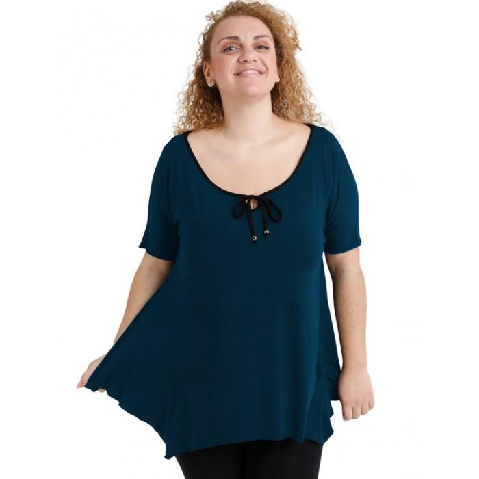 A20-256 Raglan alpha blouse - Petrol