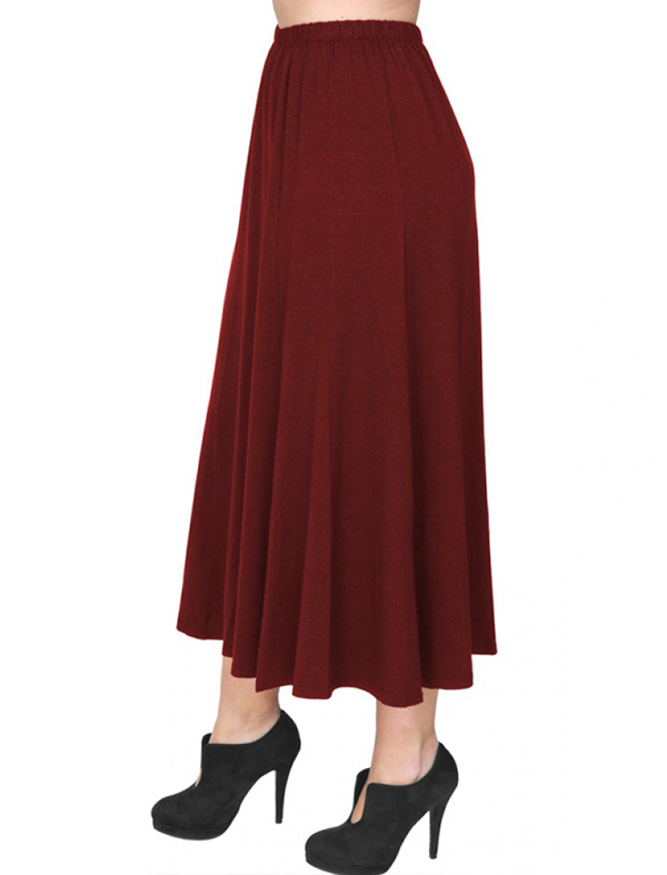 A20-260 Fitted closh skirt - Bordeaux