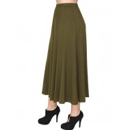 A20-260 Fitted closh skirt - Khaki Dark
