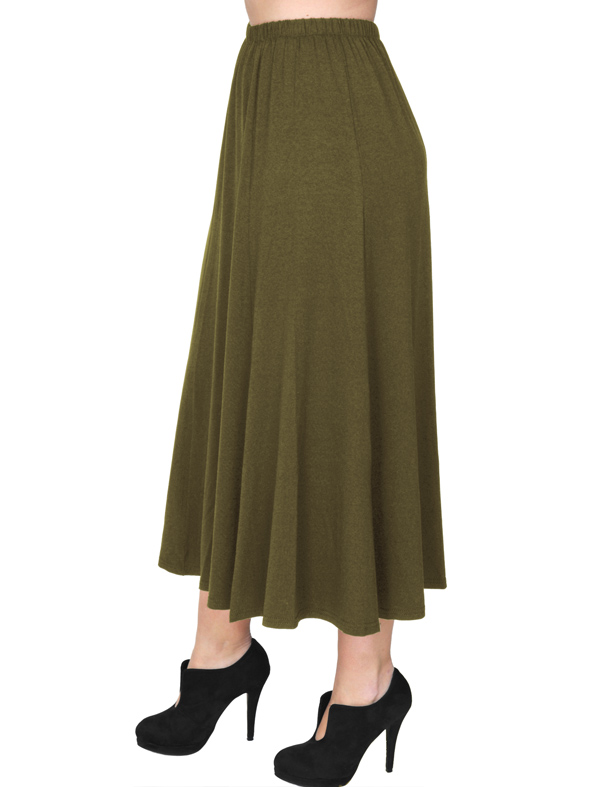 A20-260 Fitted closh skirt - Khaki Dark