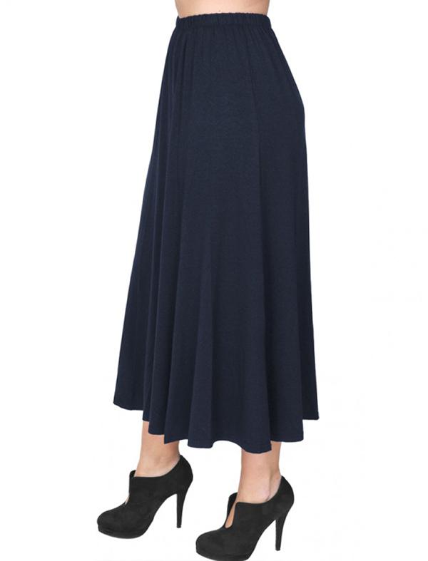 A20-260 Fitted closh skirt - Navy Blue
