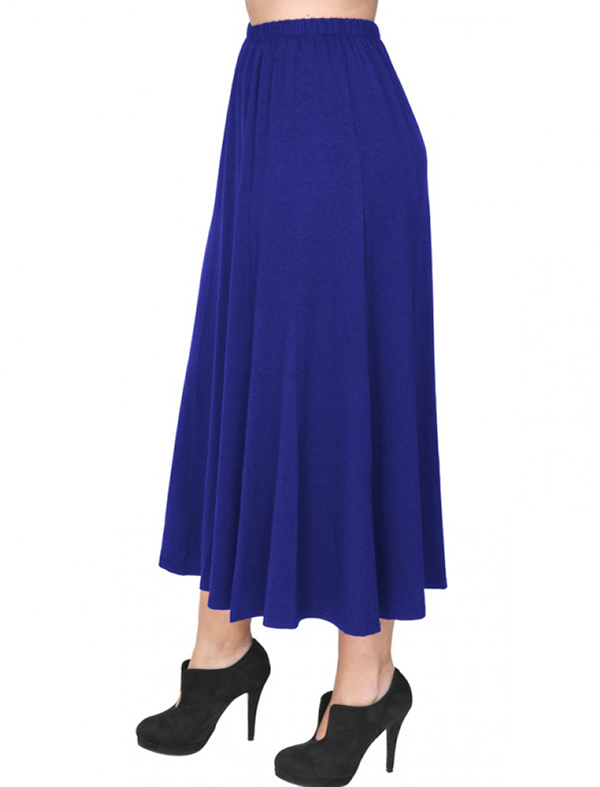 A20-260 Fitted closh skirt - Royal Blue