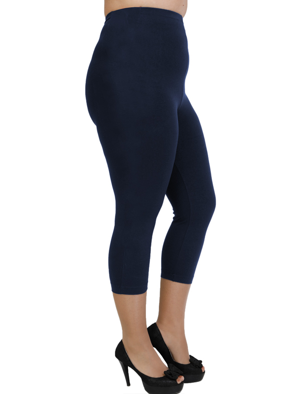 A20-263B Capri leggings - Navy Blue