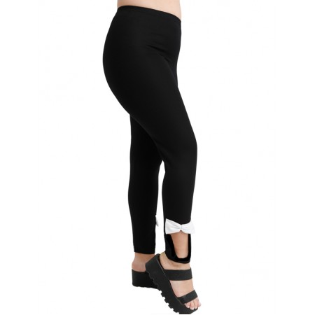 A20-263KF Leggings with bows - Black