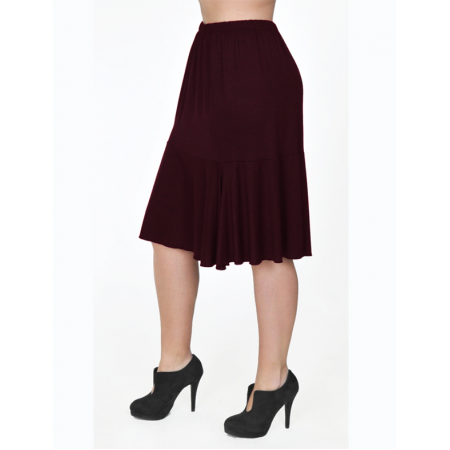 A20-268 Evaze fitted skirt with ruffles - Bordeaux