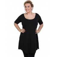A20-276 Evaze blousedress - Black