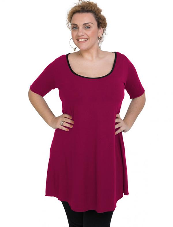 A20-276 Evaze blousedress - Fuchsia