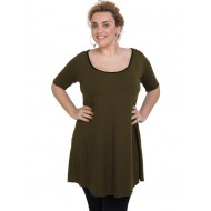 A20-276 Evaze blousedress - Khaki Dark