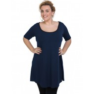 A20-276 Evaze blousedress - Navy Blue