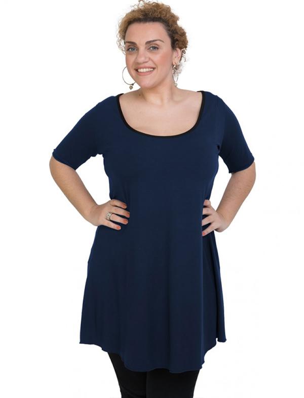A20-276 Evaze blousedress - Navy Blue
