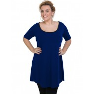 A20-276 Evaze blousedress - Royal Blue
