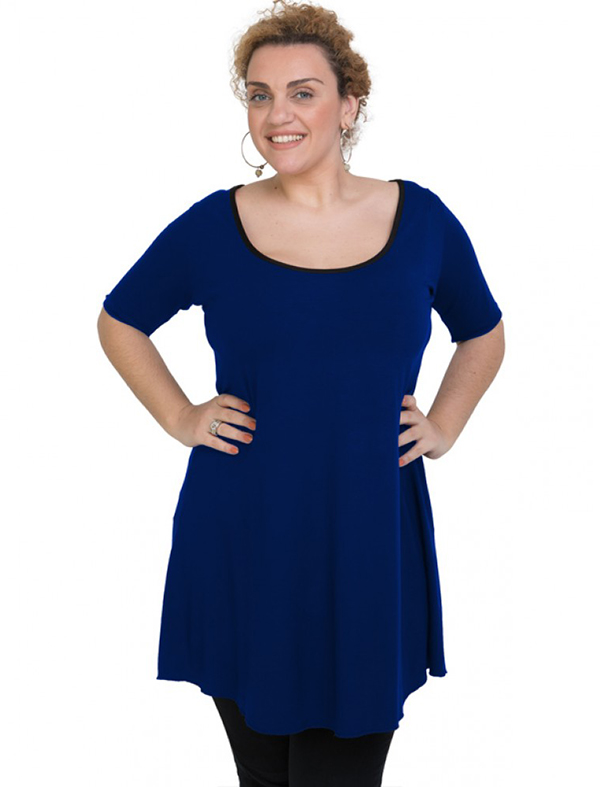A20-276 Evaze blousedress - Royal Blue