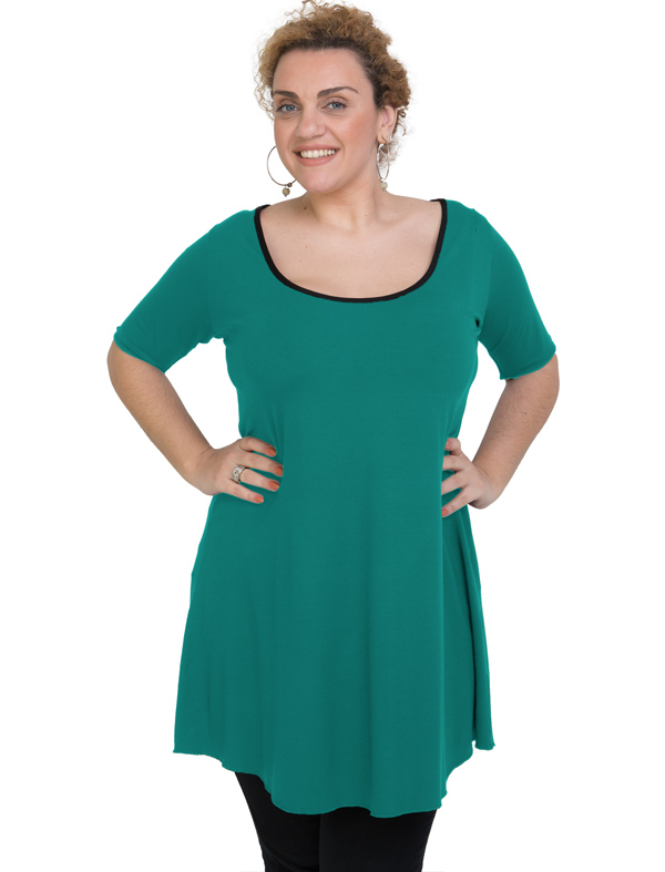 A20-276 Evaze blousedress - Turquoise