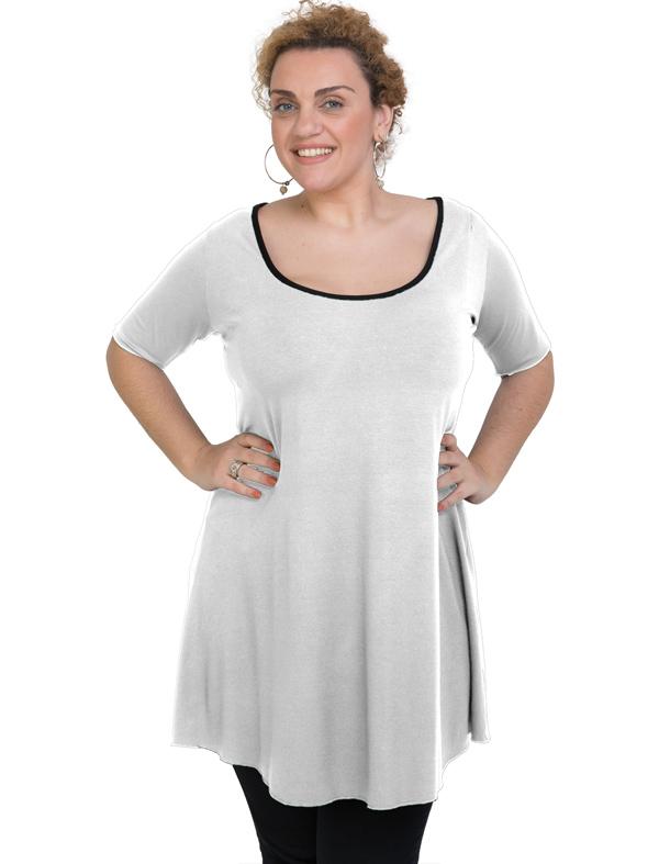 A20-276 Evaze blousedress - White