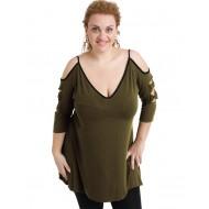 A20-281 Evaze blouse - Khaki