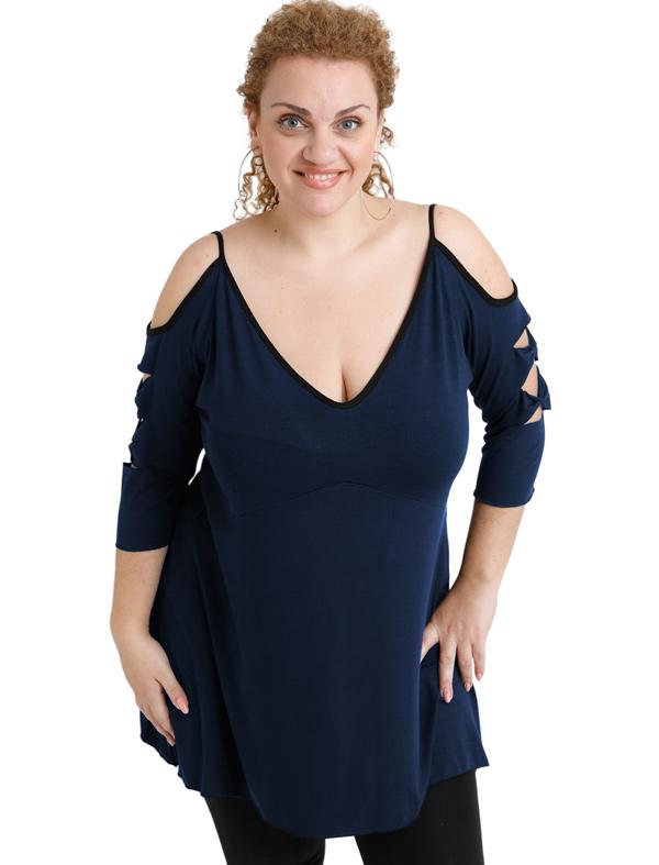 A20-281 Evaze blouse - Navy Blue