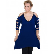 A20-282 Evaze blousedress - Royal Blue