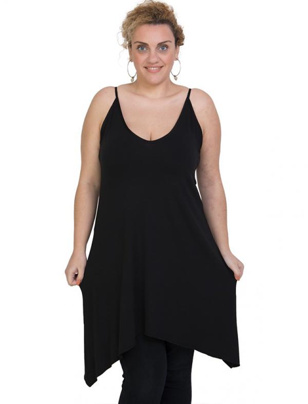 A20-282B Evaze blousedress - Black