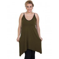 A20-282B Evaze blousedress - Khaki Dark