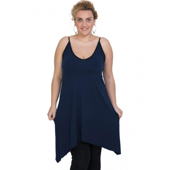 A20-282B Evaze blousedress - Navy Blue
