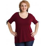 A20-287 Classic blouse - Bordeaux
