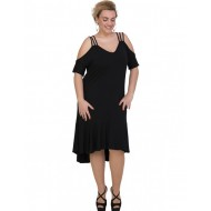 A20-293F Long dress - Black