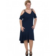 A20-293F Long dress - Navy Blue