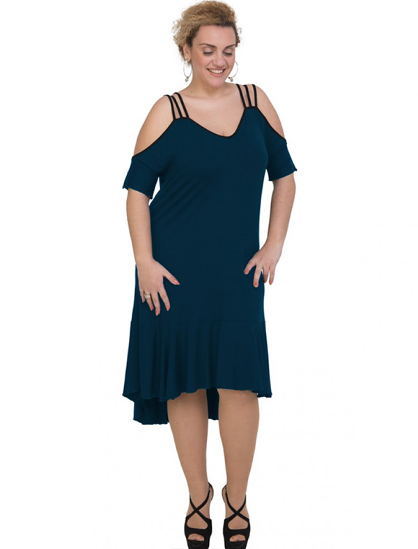 A20-293F Long dress - Petrol