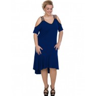 A20-293F Long dress - Royal Blue