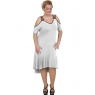 A20-293F Long dress - White