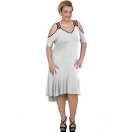 A20-293F Long dress - White
