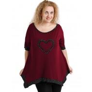 A20-459 Alpha blouse - Bordeaux