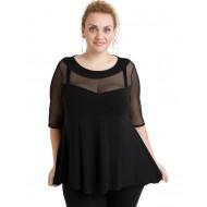 A20-5547 Classic blouse - Black