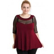 A20-5547 Classic blouse - Bordeaux