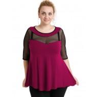 A20-5547 Classic blouse - Fuchsia