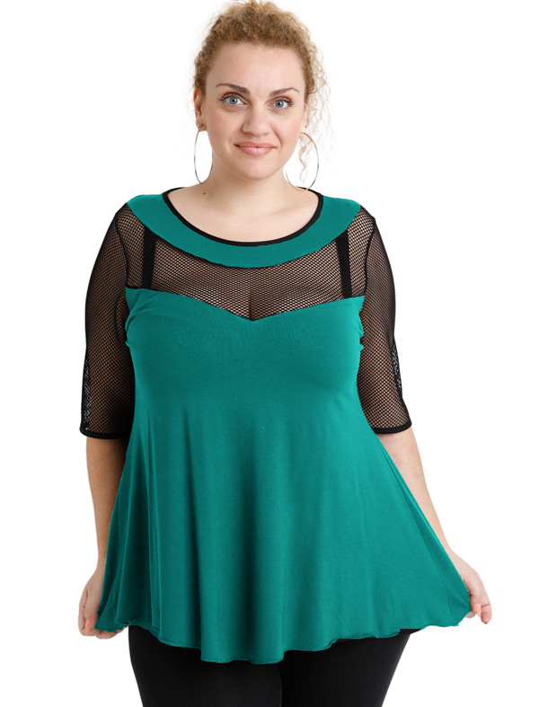 A20-5547 Classic blouse - Turquoise