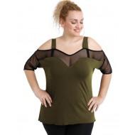 A20-5548 Raglan blouse - Khaki