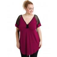 A20-5579 Classic blouse - Fuchsia