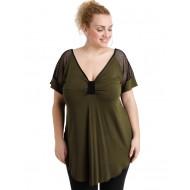 A20-5579 Classic blouse - Khaki