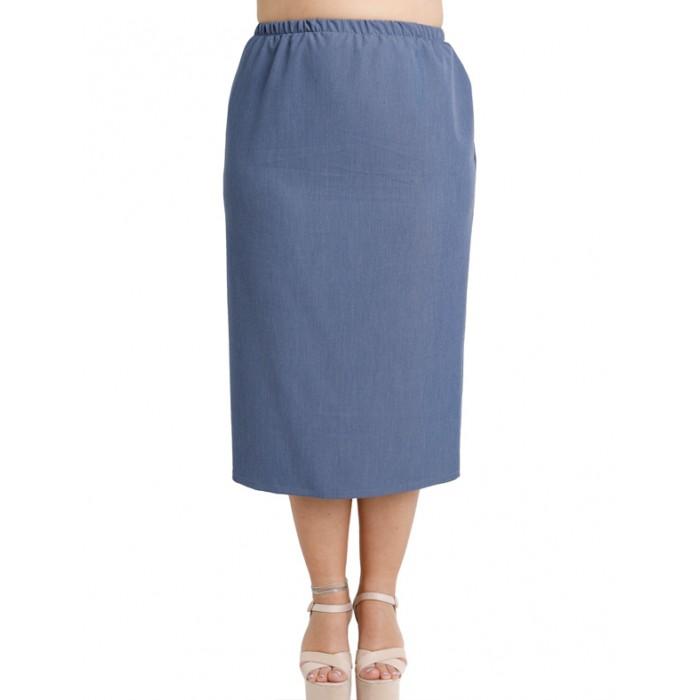 A20-655 Fitted skirt - Light blue