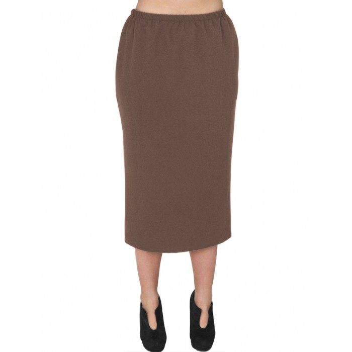 A20-755 Fitted skirt - Brown