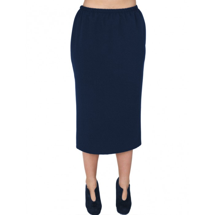 A20-755 Fitted skirt - Navy Blue
