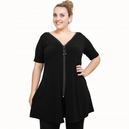 A21-176F Evaze Blouzedress - Black