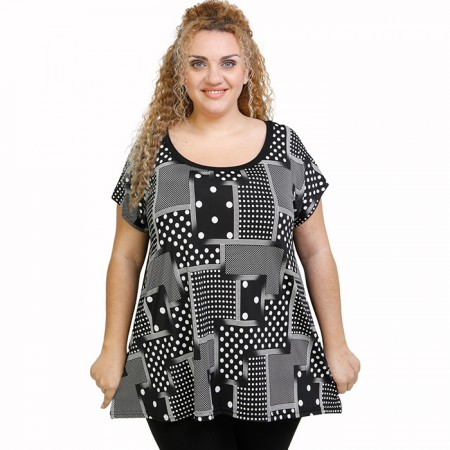 A21-4609 Alpha Blouse with pattern
