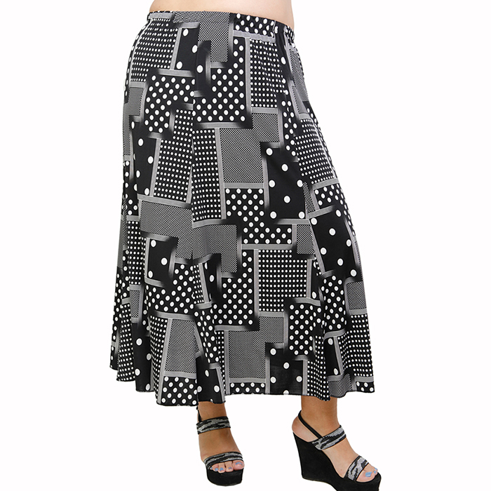 A21-4660 Jersey Closh Skirt with elastic band
