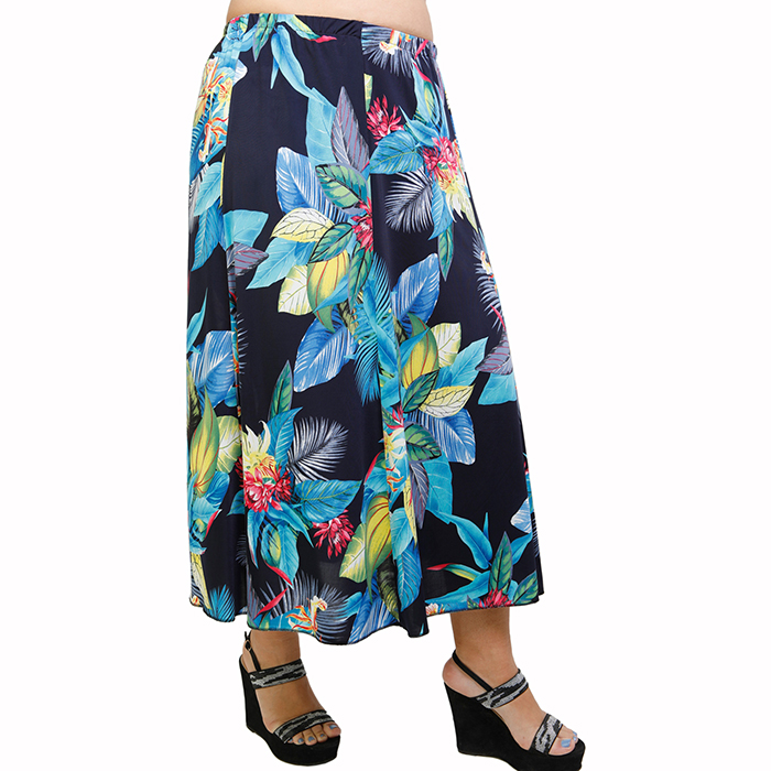 A21-4960 Jersey Closh Skirt with elastic band
