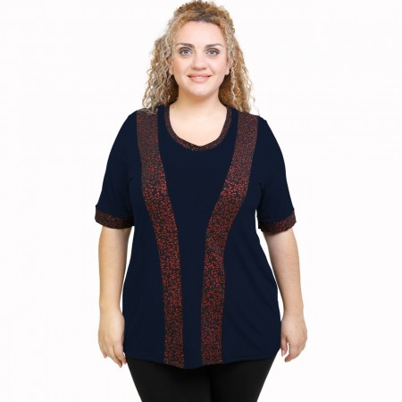 A21-529LM Classic Blouse - Navy Blue