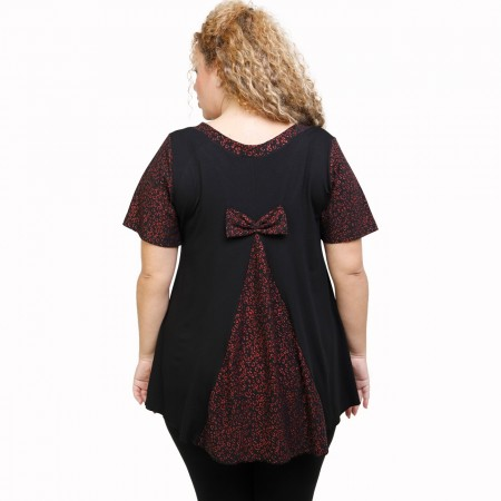 A21-589L Blouse with pattern - Black