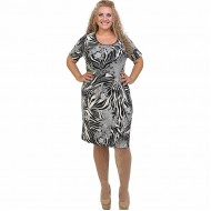 A21-6000V Jersey Dress in classic line