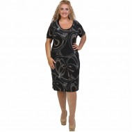 A21-7200V Jersey Dress in classic line